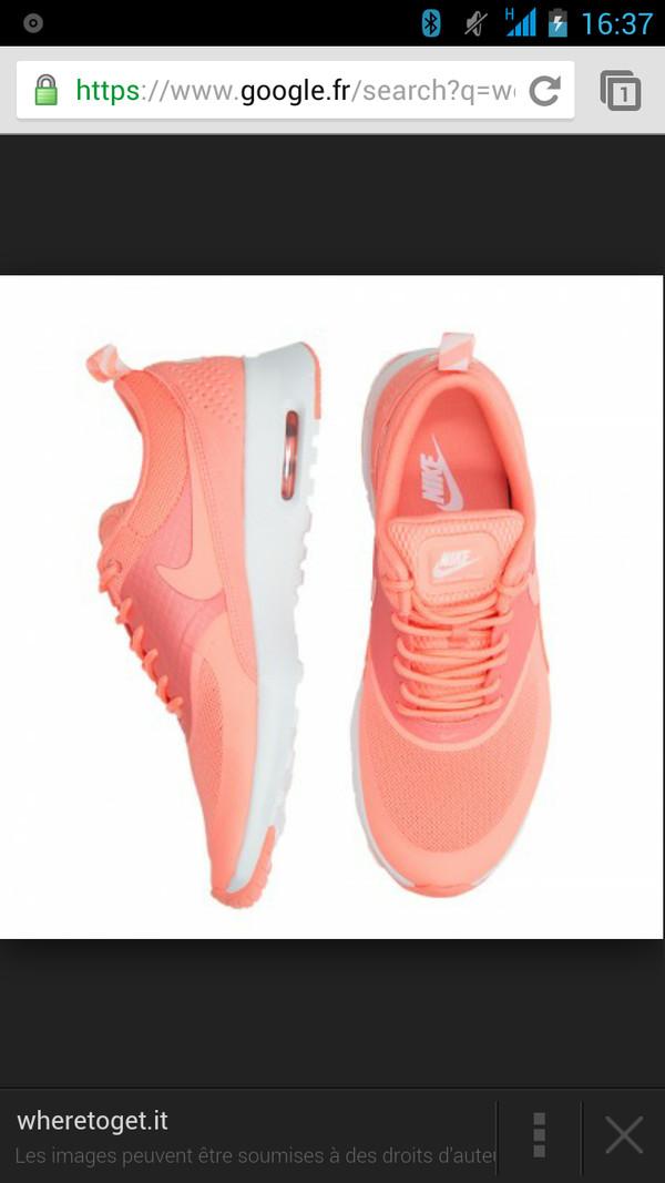 shoes nike air max thea coral