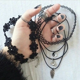 jewels necklace accessories grunge accessory tattoo coker fake tattoos tattoo moon necklace grunge grunge jewelry choker necklace black choker black cute charm