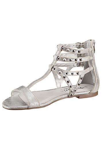 Tamaris Silver Studded Sandals | Holiday Fashion | Womens | Swimwear365