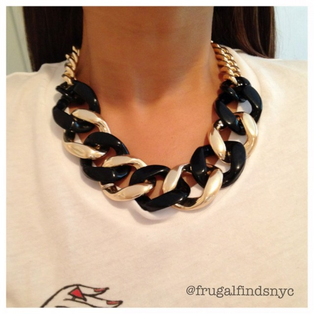 black combo link necklace  - Frugal Finds NYC