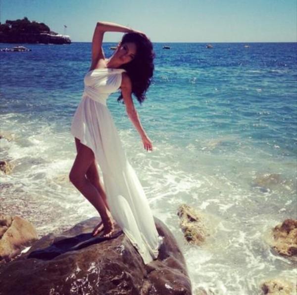 dress white dress one shoulder high-low dresses