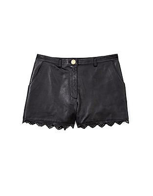 ASOS Fashion Finder | Black Libre Leather Lasercut Shorts by ALICE By Temperley