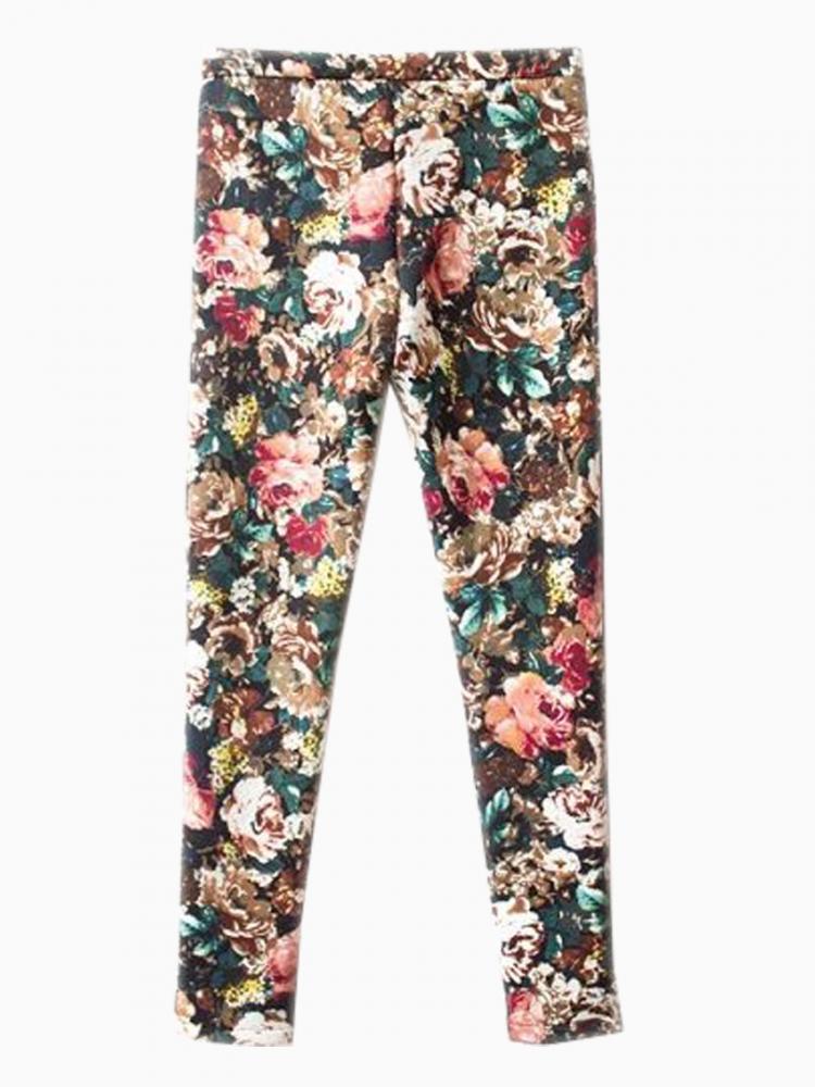 Vintage Floral Skinny Pants   Choies