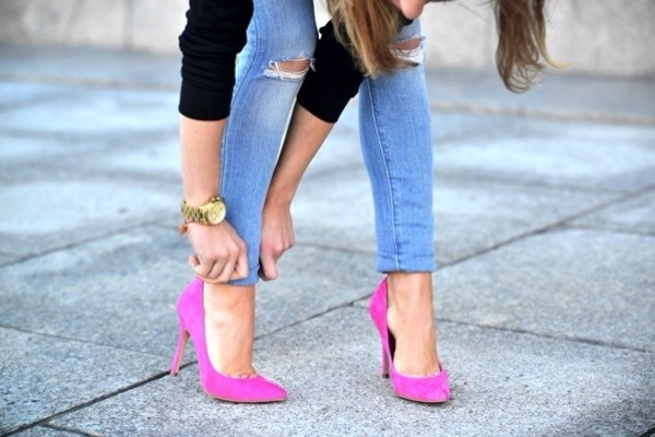 shoes d'orsay pumps pink shoes pink hells