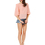 Peach Long Sleeve Bowknot Backless Blouse - Sheinside.com