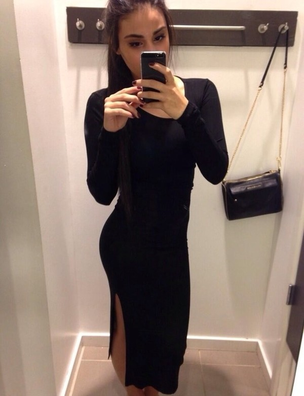 dress little black dress black midi dress