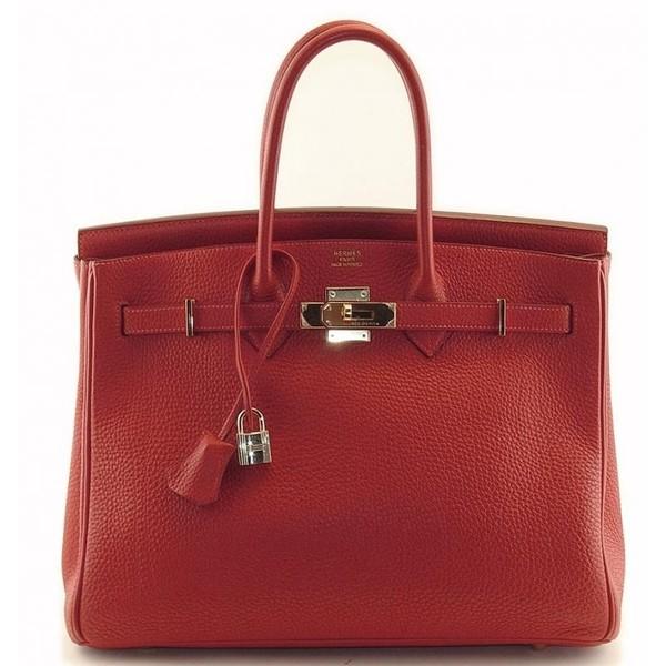 Hermes Birkin Bag In Red Leather as seen on Fergie - Hermès - Polyvore