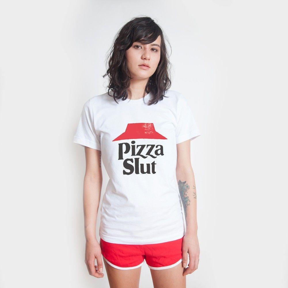 Killer Condo Pizza Slut Unisex White T Shirt Graphic PARODY Funny Pizzatarian | eBay