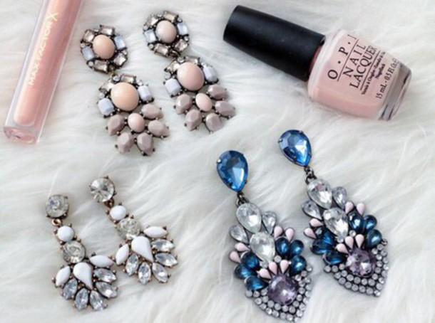 jewels nail polish earrings