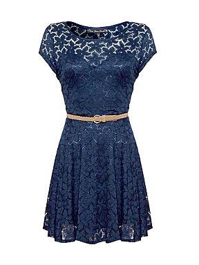 Mela Loves London Lace dress Navy - House of Fraser