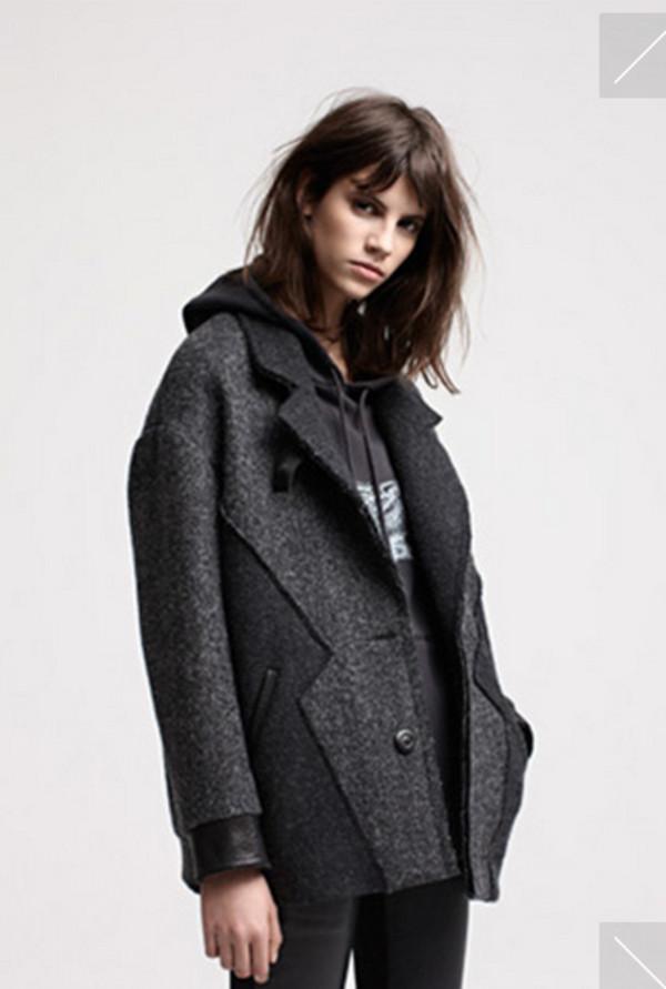 coat maje grey fashion lookbook