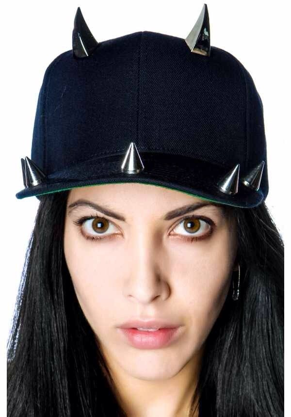 hat spiked  hat goth