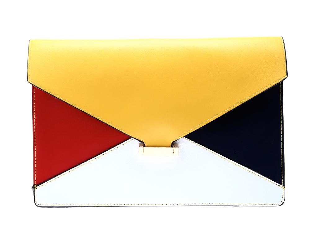 Lourdes Colourblock Envelope Clutch
