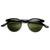 Dapper Vintage Fashion Round Half Frame Sunglasses 9165                           | zeroUV