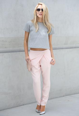 cheyenne meets chanel t-shirt pants shoes bag sunglasses jewels pink pants