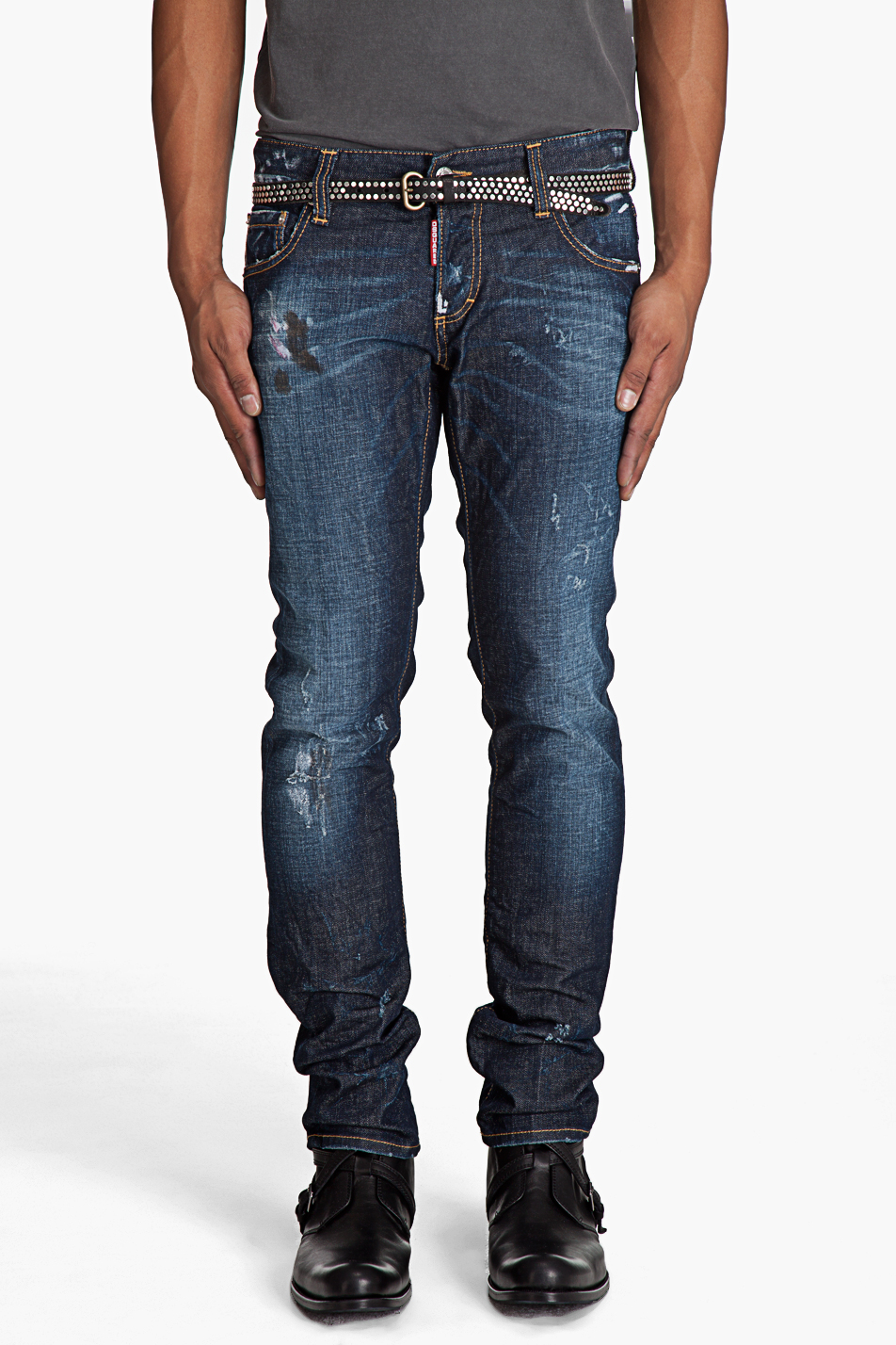 dsquared2 slim fit distressed jeans