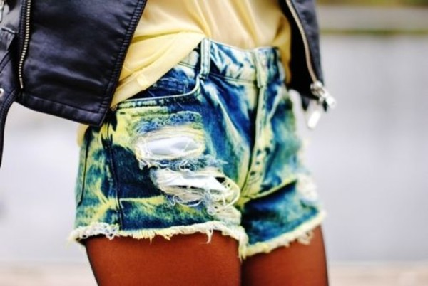 shorts dyed shorts ripped ripped frayed cute. cute. af.