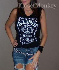 Sexy Jack Daniels Black Muscle Sleeveless Tank Soft Knit TEE TOP Small S | eBay