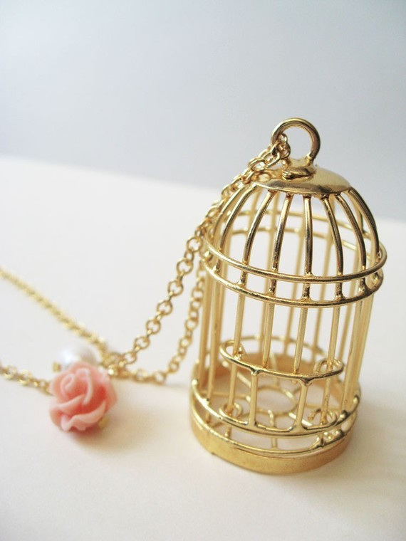 i know why the caged bird sings. by handmadebybluebird on Etsy