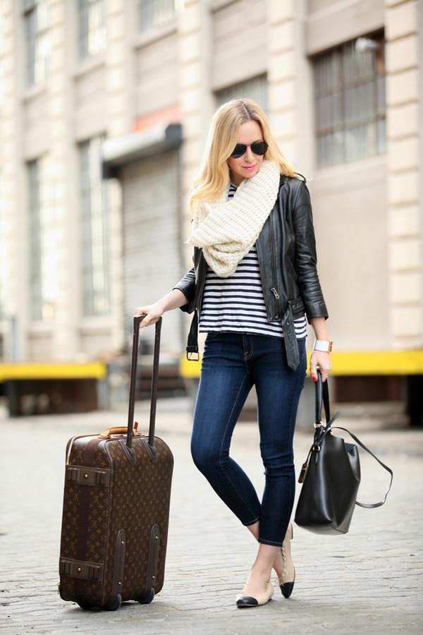 brooklyn blonde jeans t-shirt dress jacket bag scarf jewels