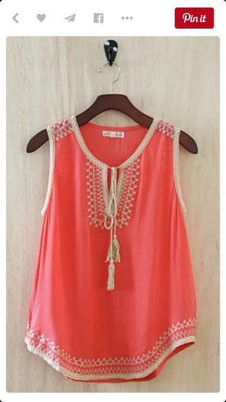 top orange top orange blouse fashion cute top