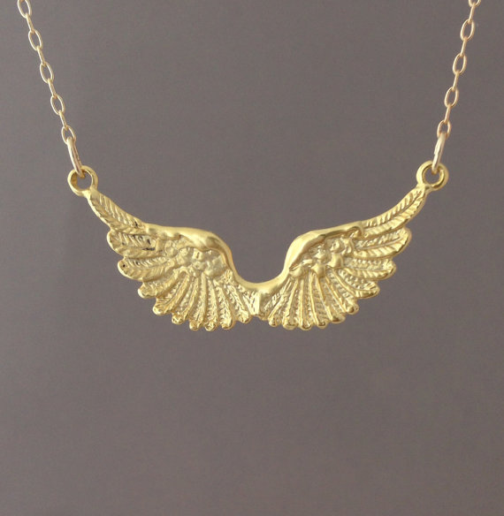 Angel Wing Necklace comes in gold and silver by JENNYandJUDE