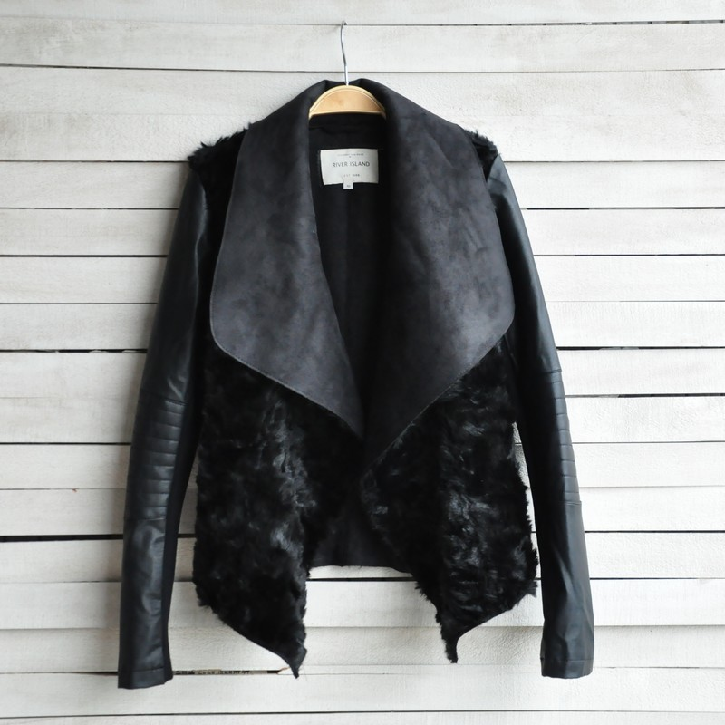 High Quality ! IN STOCK ! Fashion Slim leather jacket for woman female short design fur one piece short  fur jacket-inLeather & Suede from Apparel & Accessories on Aliexpress.com