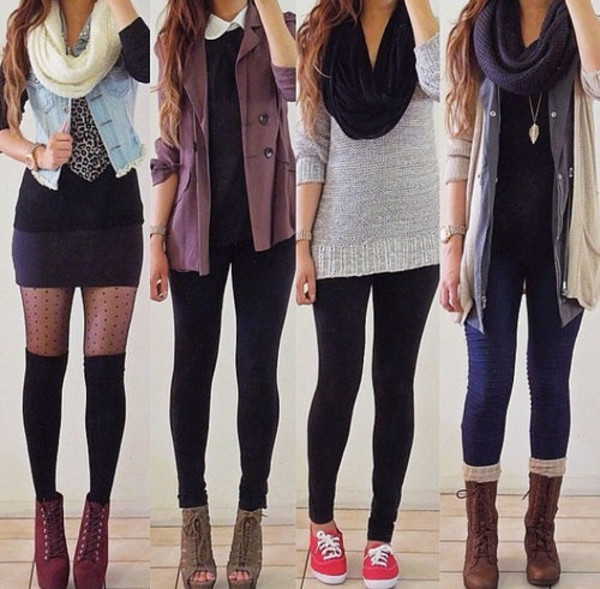 shoes cute scarf denim jacket black motorcycle boots sneakers jacket coat outfit necklace skirt high heels pants shirt sweater underwear blouse hat jeans blue shirt purple sweater comfy sweater knitted scarf combat boots high waisted skinny jeans cut out white crop tops summer girl shirts shirt jumper black t-shirt collared shirts black and white t-shirt cardigan leggings fall outfits cozy girly hipster girly outfits tumblr tights socks lovely classy t-shirt tight casual girl top skirt high knees jeffrey campbell tigts spring fall outfits peep toe boots all of the outfits jewels jumpsuit echarpe hiver fashion lookbook colorful jacket black jeans white scarf black scarf wedge boots