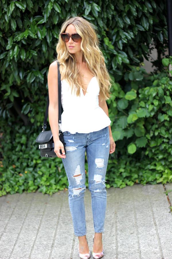 a fashion love affair top jewels jeans bag shoes
