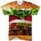 Burger all over print t shirt