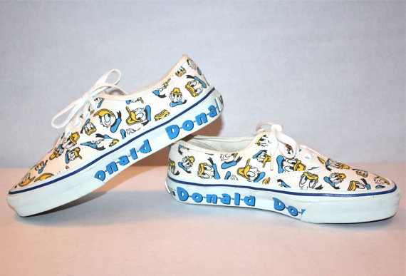 Vintage DONALD DUCK VANS Sneakers Punk Skate Tennis by StatedStyle