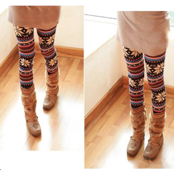 Knitted Colorful Soft and Comfortable Crystal Pattern Leggings Tights Pants Hot | eBay