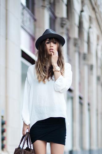 fashion toast rumi black hat hat skirt