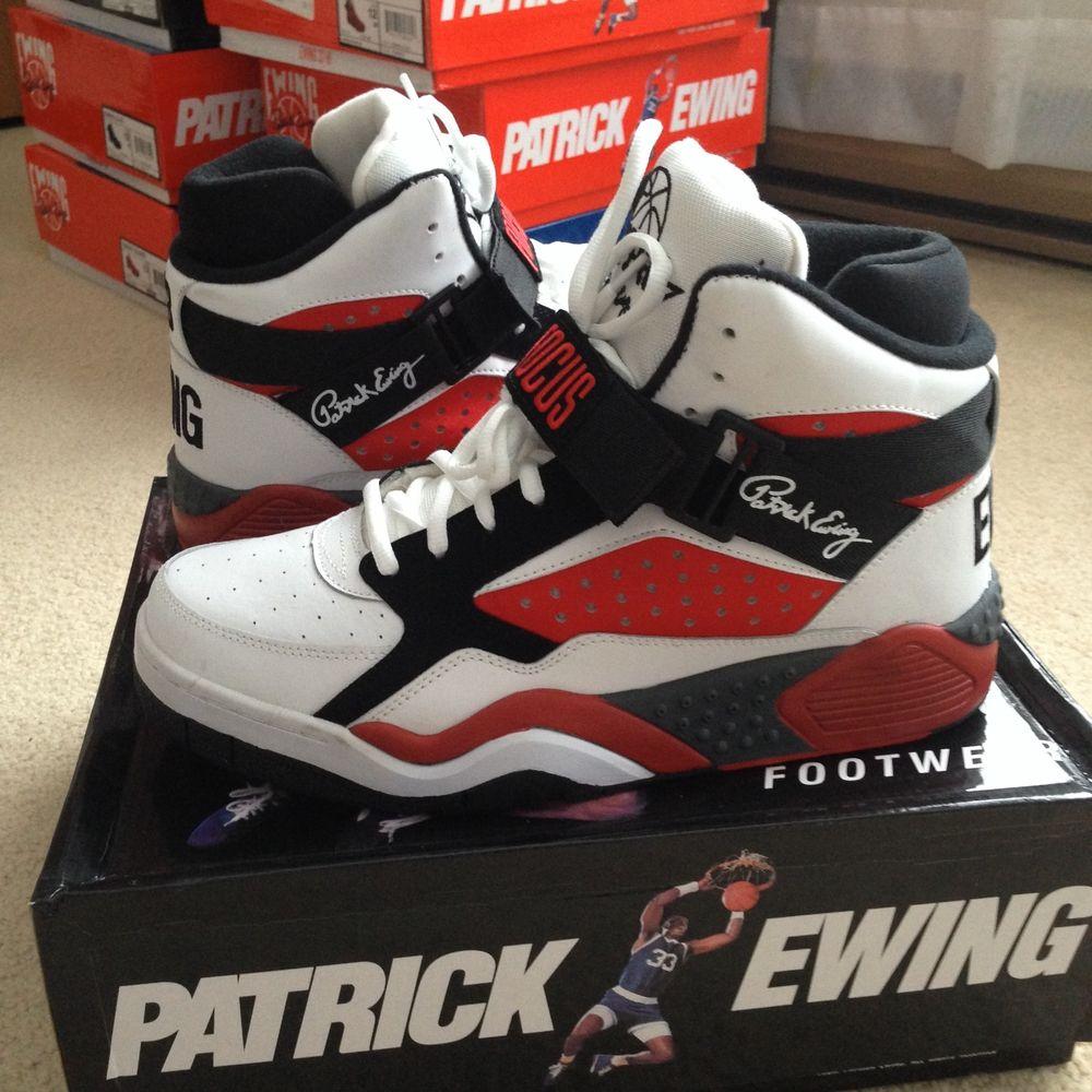 Patrick Ewing Athletics Focus Chicago Bulls Guard 33 Hi Black Size 12 VNDS Red | eBay