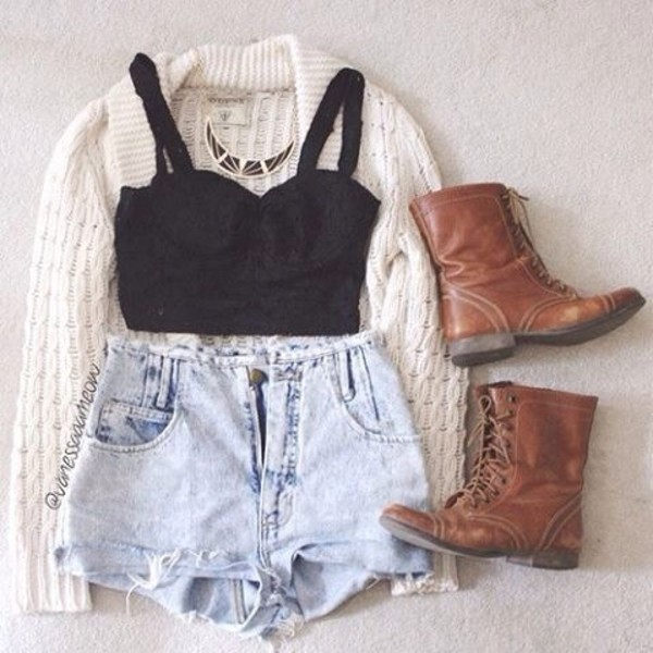 sweater cardigan whitesweater cute urban outfitters shoes shirt shorts cream brown combat boots boots leather brown shoes combat boots vintage boots t-shirt knitted cardigan