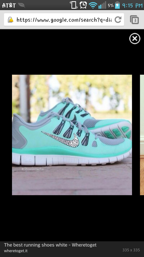 shoes mint nikes diamonds sneakers nike running shoes