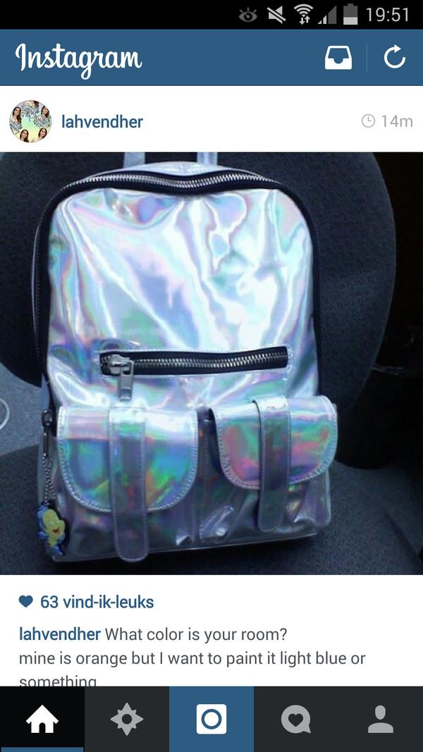bag backpack silver