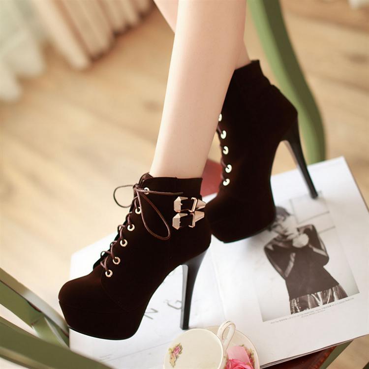 Womens High Heel Stilettos Lace UP Pumps Shoes Ankle Boots Party Shoes Plus Size | eBay