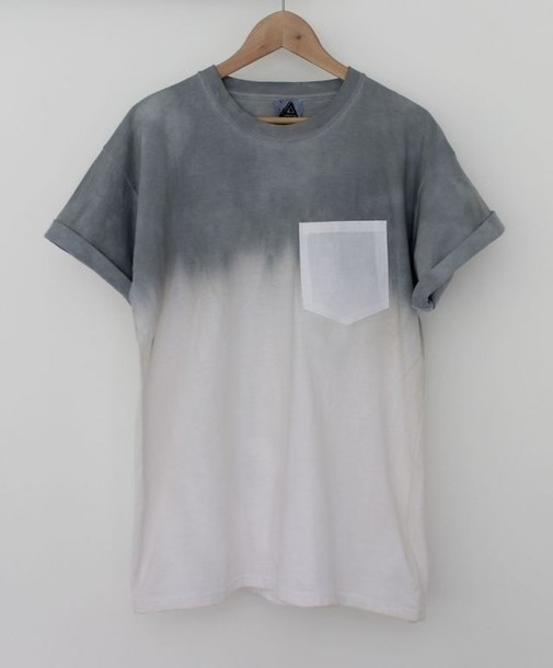 t-shirt hipster ombre menswear unisex grey white grey pocket t-shirt skater white t-shirt grey t-shirt ombre top pocket t-shirt shirt ombre shirt t-shirt faded off-white simple tshirt short sleeve