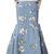 Light Blue Daisy Floral Print Denim Dungaree Dress - Sheinside.com