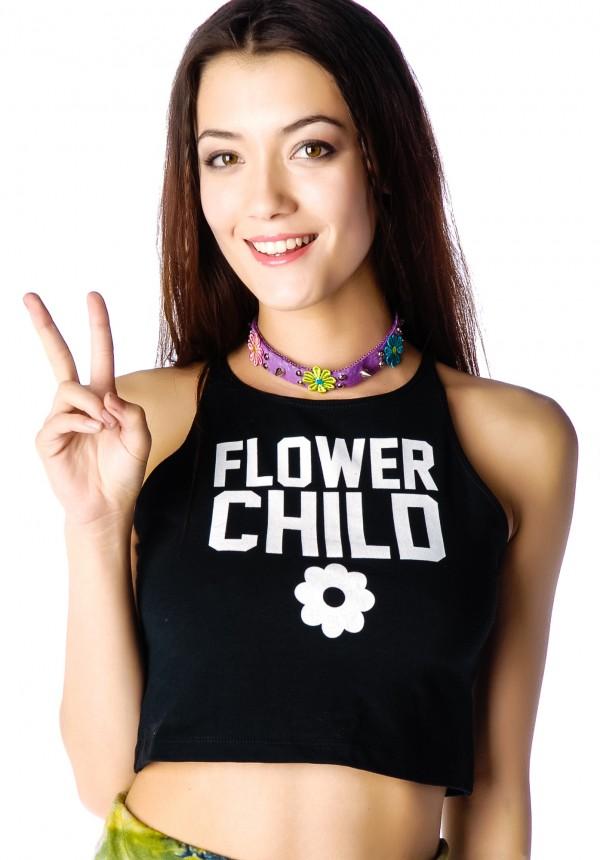 Declared Flower Child Crop Tank Top | Dolls Kill