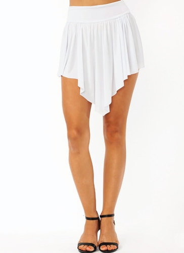 GJ | Double-V Mini Skirt $18.20 in HOTPINK MINT PEACH WHITE - Skirts | GoJane.com