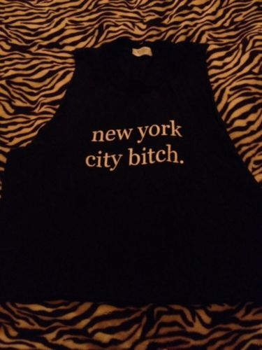 Brandy Melville Muscle Tank New York City Bitch | eBay
