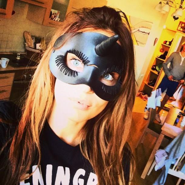 hair accessory black mask sunglasses unicorn mask
