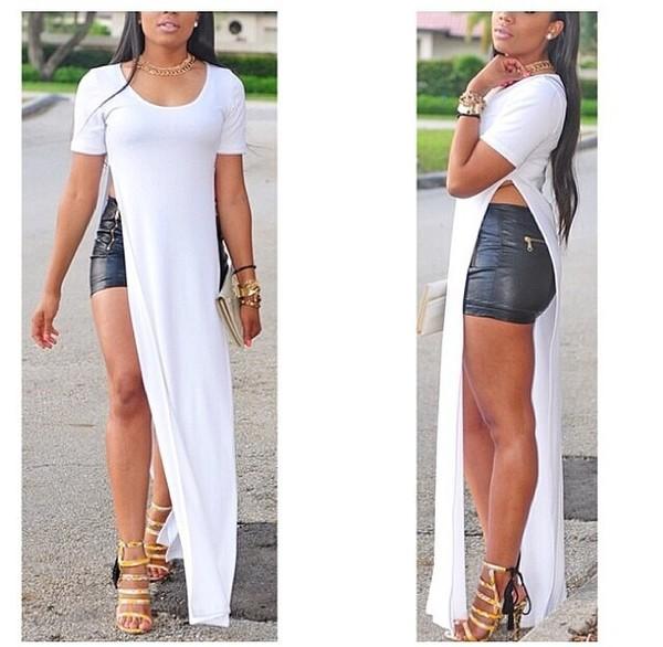 dress white dress long dress