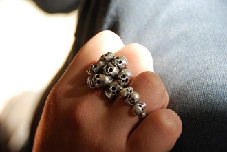 jewels ring skull double ring