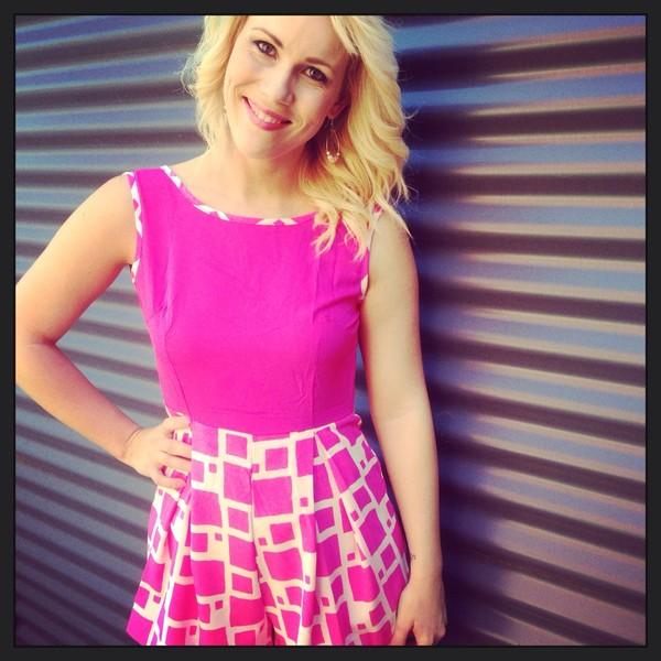 dress romper hot pink