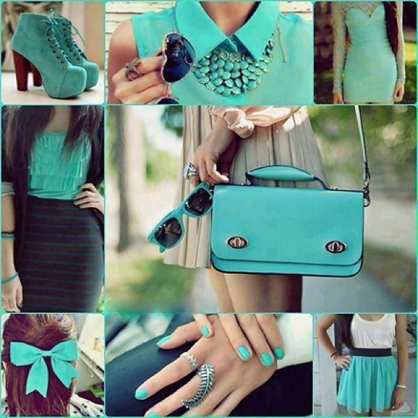 bag blouse skirt tank top nail polish shoes sunglasses dress jewels