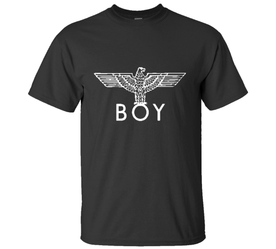 Men's Boy London Eagle Crew T-Shirt In Black With White Ink - T-Shirts, Tank Tops
