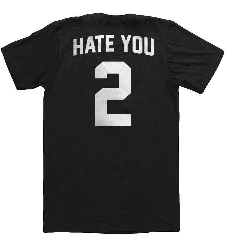 'HATE YOU 2' T-SHIRT - oversized_unisex_Jersey_supreme diamonds_Yeezy_Hip Hop_   eBay